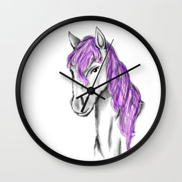 Princess Horse Wall Clock