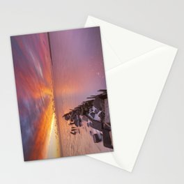 Sunrise over sea on the island of Texel, The Netherlands Stationery Cards