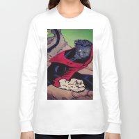 nightcrawler Long Sleeve T-shirts featuring The Amazing Nightcrawler by mataspey86