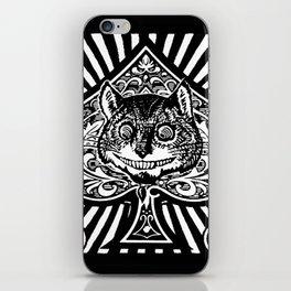 Cheshire Cat Black and White iPhone Skin