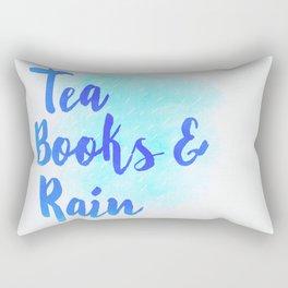 Tea, Books & Rain Rectangular Pillow