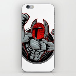Spartan Trojan illustration. iPhone Skin