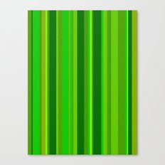 Green Stripes Canvas Print
