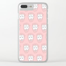 Pink yet still Hardy Clear iPhone Case