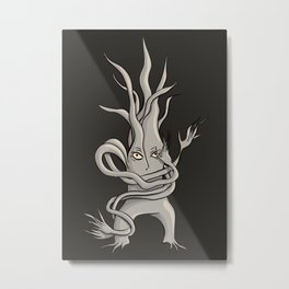 Creepy Tree Creature With Tangled Branches Metal Print