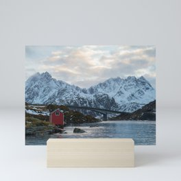 Lofoten winter Mini Art Print