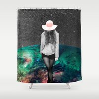 alone Shower Curtains featuring Alone by Cs025