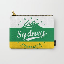 Sydney City, Australia, green yellow, poster Carry-All Pouch
