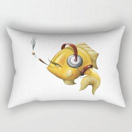 Smoking Fish Rectangular Pillow