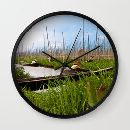 Floating gardens Wall Clock
