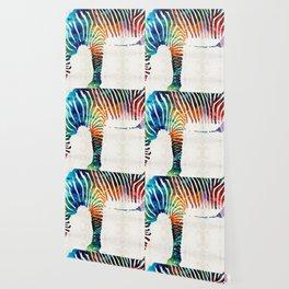 Colorful Zebra Art by Sharon Cummings Wallpaper