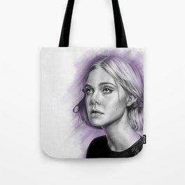 Elle Fanning Drawing - Spatter Series Tote Bag