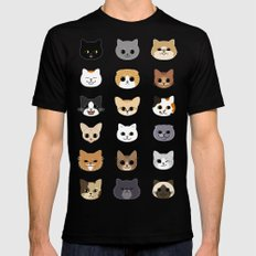 Happy Cats Mens Fitted Tee Black MEDIUM