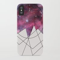 outer space iPhone & iPod Cases featuring Outer Space by FlurinaJT