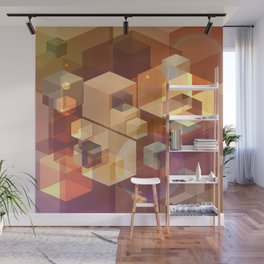 Squares and light leaks pattern Wall Mural