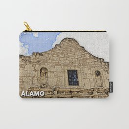 The Alamo Under Clear Skies Carry-All Pouch