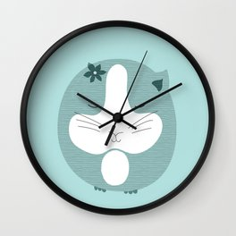 Sleeping mouse Wall Clock