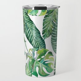 Jungle Leaves, Banana, Monstera #society6 Travel Mug