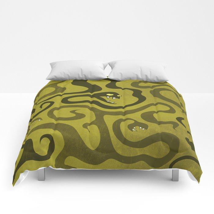 Funny Cartoon Evil Snakes Comforters