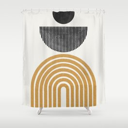 Rainbow and Moon Shower Curtain