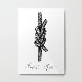 Surgeon's Knot Metal Print