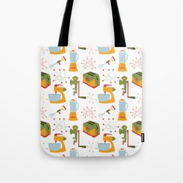 Retro Kitchen - Orange and Green Tote Bag