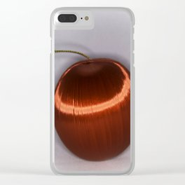 Single Red Christmas Ball Clear iPhone Case