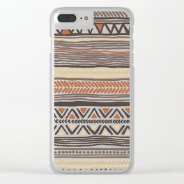 Hand Drawn Ethnic Pattern Clear iPhone Case