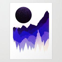 Glitter mountains Art Print