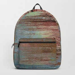 Distressed rust abstract Backpack