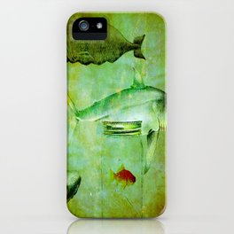Hostile environment for a goldfish iPhone Case