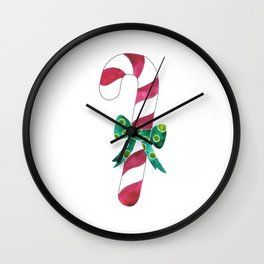Christmas Season —Candy Canes Wall Clock