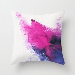 Watercolour splash Throw Pillow