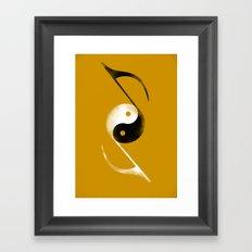 balance music Framed Art Print