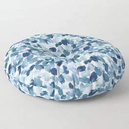 Blue Abstract Watercolor Floor Pillow
