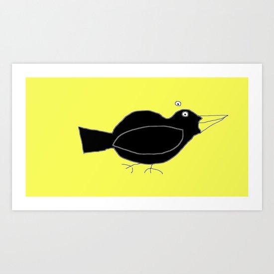 meg's crow Art Print