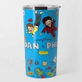 The Vortex of Everything Dan and Phil Travel Mug
