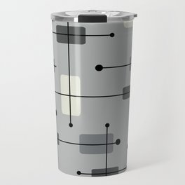 Rounded Rectangles Squares Gray Travel Mug