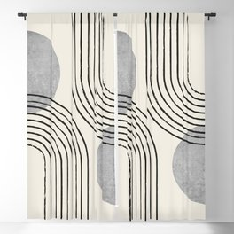 Sun Arch Double - Grey Blackout Curtain