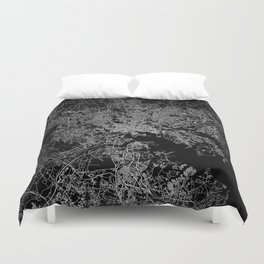 Baltimore map Maryland Duvet Cover