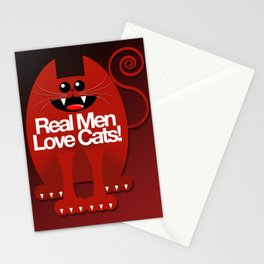 MEN LOVE CATS Stationery Cards
