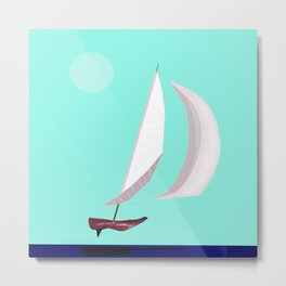 May Flying or Sailing in May - shoes stories Metal Print