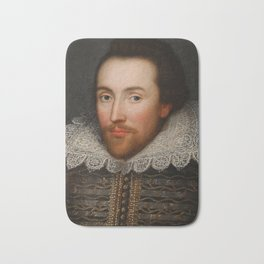 Vintage William Shakespeare Portrait Bath Mat