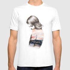 Interlude // Illustration Mens Fitted Tee White MEDIUM