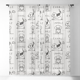 Inhale Exhale Beagle Sheer Curtain