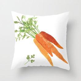 Carrot Illustration Throw Pillow