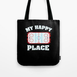 Ice Hockey Shirts I cheerleader gift Tote Bag