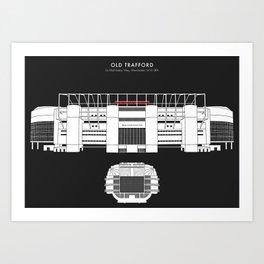 OLD TRAFFORD STADIUM - Manchester United  Art Print