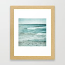 soft waves Framed Art Print