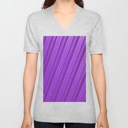 Stripes II - mauve Unisex V-Neck